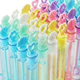MAPIXO 30 Pack Mini Bubble Wands(5 Style, 6 Colors), Bulk Bubble Party Favors, Goody Bags for Kid, Great Summer Outdoor Indoo