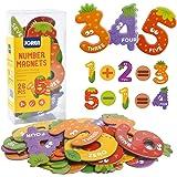 JCREN Jumbo Magnetic Number Fruit Fridge Magnets Stick Colorful Paper Math Toy 26Pcs Set Preschool Learning Recognition Count