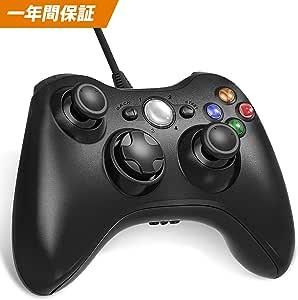 XBOX 360 コントローラー Diestord PC コントローラー 有線 ゲームパッド ケーブル Windows PC Win7/8/10 人体工学 二重振動