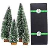 Small Christmas Tree,Mini Christmas Tree, Mini Pine Tree, Bottle Brush Fake Trees with Wooden Base for Tabletop Decorative (P