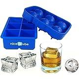 niceCube Large Ice Cube Tray, Whiskey Ice Ball Set