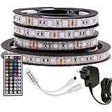 5M RGB LED Strip Lights, 12V 5050 300LEDs Strips Full Kit, Self Adhesive + 44 Key Ir Controller + AU Power Supply (Waterproof