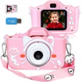 Langwolf Kids Digital Camera for Girls and Boys, Kids Selfie Photo Video Camera Camcorder with 32 or 16GB SD Card, Gifts for