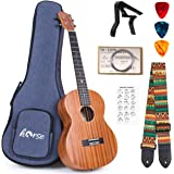 Ukulele Mahogany Ukelele Ukele for Professional Player Beginners Uke Starter Kit with Carring Gig Bag Strap Strings Capo Pick