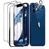 iPhone 12 mini 強化ガラスフィルム (2枚)+ガラスフィルム (2枚) 高透過率/硬度9H/気泡ゼロ/貼りミスゼロ/飛散防止 全面保護フィルム 日本旭硝子製 アイフォン12mini 強化ガラスフィルム2枚+アイフォン12mini レンズ