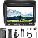 Neewer F100 7 Inch Camera Field Monitor HD Video Assist Slim IPS 1280x800 4K HDMI Input 1080p with 2600mAh Li-ion Battery/USB