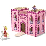 Melissa & Doug Fold & Go Wooden Princess Castle (2 Royal Play Figures, 2 Horses, Frustration-Free Packaging, Great  Girls and