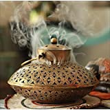 AppyHut Incense Burner Holder Hanging Wall Bracket & Incense Cones,Antique Home Room Wall Decor Spiritual Aromatherapy Reiki