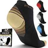 Compression Running Socks for Men & Women - Best Low Cut No Show Athletic Socks for Stamina Circulation & Recovery - Ultra Du