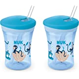 NUK Evolution Straw Cup, 8 oz., 2-Pack, Blue