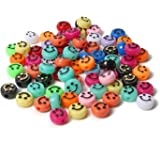 Smiley Face Beads - 100PCS Acrylic Beads, Happy Face Beads with Crystal Bracelet String - for Jewelry Making DIY Bracelet Ear