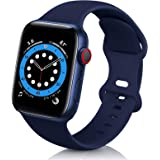 ZALAVER Compatible with Apple Watch Band 38mm 40mm 42mm 44mm, Soft Silicone Sport Replacement Band Compatible with iWatch Ser