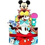 KanonBabys おむつケーキ [ 男の子向け/ディズニー : ミッキー / 2段 ] パンパースS22枚 (出産祝…