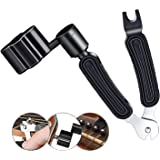 3 In 1 Multifunctional Guitar Maintenance Tool/String Peg Winder + String Cutter + Pin Puller Instrument Accessories-Designed