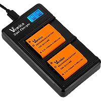 Vemico Li-90B/Li-92B バッテリー 充電器 2個大容量1450mAh互換バッテリー LCD付きType…