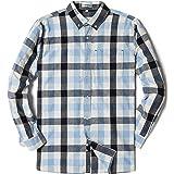 MOCOTONO Men's Long Sleeve Plaid Checked Button Down Casual Shirts