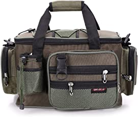(kakuma)フィッシングバッグ 多機能 大容量 軽量性 防水性 釣り用バッグ ウエストバッグ 釣り用 ショルダーバッグ 釣り道具収納バッグ ボルト収納バック付き 3way