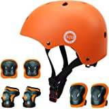 XJD ヘルメット こども用 キッズプロテクターセット 調節可能 軽量 高剛性 通気性 スケボー サイクリング 保護用…