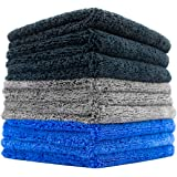 (9-Pack) THE RAG COMPANY 16 in. x 16 in. Professional 70/30 Blend 420 GSM Dual-Pile Plush Microfiber Auto Detailing Towels -
