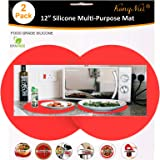Silicone Microwave Mat 12 Inch, Non Stick Turntable Baking Mat for Kitchen, BPA Free Multi-Purpose Heat Resistant Oven Mat 2
