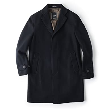 Todd Snyder Wool Balcollar Coat: Black