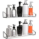 Vdomus Acrylic Bathroom Shelves, Wall Mounted Non Drilling Thick Clear Storage & Display Shelvings, 2 Pack (Original)