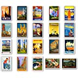 Vintage Travel Posters Postcard Set of 20. Post Cards Depicting The Original 1920s-1940s Posters. Variety Pack Poster Reprint
