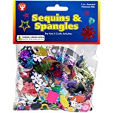 Hygloss Products Sequins and Spangles Variety Pack- Add Shimmer and Shine to Any Surface, Various, 1-Ounce
