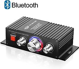 Bluetooth パワーアンプ TTMOW 高音質 高出力 Bluetooth対応 オーディオアンプ 重低音 Hi-Fiステレオデジタルアンプ 30W×2 アンプ スピーカー (ブラック)
