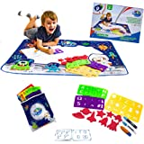 """TruPeak Extra Large 40"""" x 32"""" Water Drawing Mat Aqua Magic Doodle for Kids & Toddlers   Water Doodle Mat with Letters, Number"""