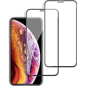 【2枚セット】Maxtango iPhone XR ガラスフイルム アイフォンXR 強化ガラス【日本製素材旭硝子製】 6Dラウンドエッジ加工/業界最高硬度9H/高透過率/3D Touch対応/自動吸着/気泡ゼロ ガラスフィルム 全面保護 液晶保護フイルム 全面フイルムカバー 6.1インチ対応 ブラック(黒)