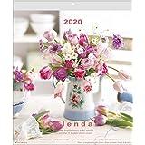 アクティブコーポレーション 2020年 カレンダー 花 壁掛け 落合惠美 Flowerウォール ACL-03