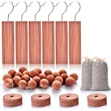 Homode Aromatic Red Cedar Blocks for Clothes and Shoes Storage Including Cedar Hangers and Balls | Value Pack (40 Items and S