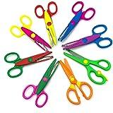 YETOOME Pack of 8 Colorful Decorative Paper Edge Scissor Set, Great for Teachers, Crafts, Scrapbooking, Kids Design