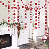 Glitter Red Circle Dots Garland Kit for Xmas Party Hanging Decoration/Streamers/Flag/Banner/Christmas Tree Garlands for Chine
