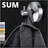 Suction Cup Hooks Shower 2Pcs Stainless Steel Vacuum Holder - Removable Bathroom Shower Hook Suction Towel Rack and Kitchen O