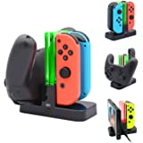 FASTSNAIL Controller Charger for Nintendo Switch, Charging Dock Stand Station for Switch Joy-con and Pro Controller with Char