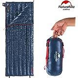 Naturehike2020年版 高級ダウン 封筒型 寝袋 超軽量 オールシーズン 防水 2人用に連結可能 圧縮袋+メッシュ収納袋付