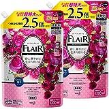 【Amazon.co.jp 限定】【まとめ買い】フレアフレグランス 柔軟剤 フローラル&スウィートの香り 詰め替え 大容量 1200ml×2個