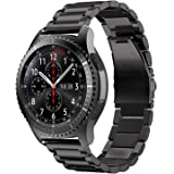 T Tersely Band Strap for Samsung Gear S3 / Galaxy Watch 46mm / Watch 3 45mm, 22mm Stainless Steel Metal Replacement Bands for