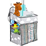 BicycleStore Hanging Diaper Caddy, Portable Baby Nursery Organizer Stacker Storage Muitifuctional Diaper Nappy Toys Storage B