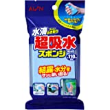 アイオン 超吸水スポンジ 最大吸水量 約110ml 水滴ちゃんとふき取り ブルー 縦11×横6.5cm 厚さ2cm PVA素材 絞ったあとでも吸水力復活 結露対策 日本製 843-B 1個入