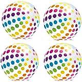 Intex Jumbo Inflatable Big Panel Colorful Giant Beach Ball (Set of 4) | 59065EP