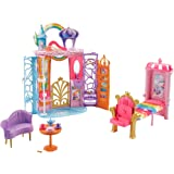 Barbie Dreamtopia Rainbow Cove Castle, Portable Playset with Handle, Puppy Figure, Transforming Features and 10 plus Accessor