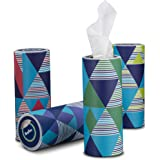 Reeflex Car Tissues (12 Canisters/600 Tissues) - Disposable Facial Tissues Boxed in Canisters with Perfect Cup Holder Fit | Q