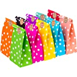 CozofLuv 50 Pack Paper Bags Party Supplies Bags Gift Bag Wedding Favor Bags Birthday Bags for Party Celebrations| Food Contai