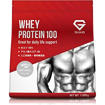 GronG プロテイン ホエイプロテイン100 無添加 ナチュラル 1kg