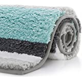 "KMAT Luxury Bathroom Rugs Bath Mat,20""x32"", Non-Slip Fluffy Soft Plush Microfiber Shower Carpet Rug, Machine Washable Quick D"