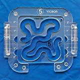 YICBOR Free Motion Quilting Template Series 5 with Quilting Frame for Domestic Sewing Machine (TK(Q5-07))