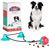 CPFK Dog Chew Double Suction Cup Tug of War Toy Pet Aggressive Chewers Rope Puzzle Toothbrush Multifunction Molar Bite Intera